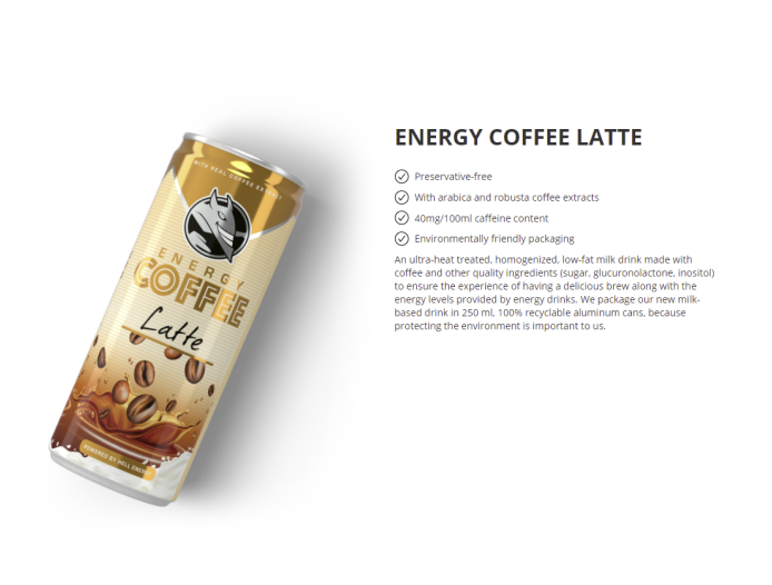 energy coffee latte